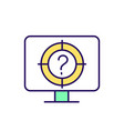 online questionnaire rgb color icon vector image vector image