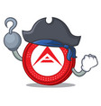 pirate ark coin character cartoon vector image
