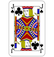 Poker playing card Jack club vector image vector image