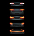 realistic automotive auto car led glowing vector image vector image