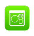rouge with brush icon digital green vector image