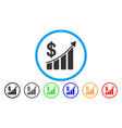 sales trend rounded icon vector image vector image