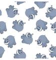Samless Funny Cartoon Hippo vector image vector image
