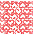 seamless pattern decorative heart shapes from vector image