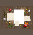 seasonal festive mock up vector image vector image