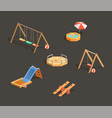 set children playgrounds vector image