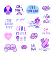 Set cute feminist signs quotes girls etc