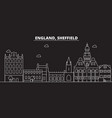 sheffield silhouette skyline great britain vector image vector image