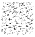 Signatures set Abstract Business autograph vector image vector image