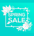 spring sale - modern colorful vector image vector image