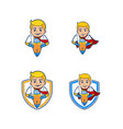 super herro mascot vector image vector image