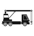 truck crane icon simple style vector image vector image