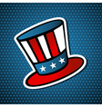 USA elections american hat vector image vector image