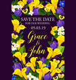 wedding or engagement invitation floral banner vector image vector image