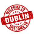 welcome to Dublin vector image vector image