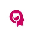 wine head logo vector image