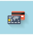 Flat web icon Bank card vector image