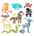 aztec and maya ancient animal symbols vector image vector image