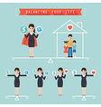 balancing your life business concept vector image