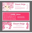 Banner template beautiful female face vector image vector image