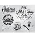 barbershop set chalk coal