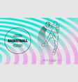 basketball player jumping with ball slam dunk vector image vector image