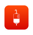 blood donation icon digital red vector image vector image