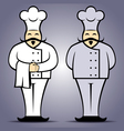 Chef cook in uniform vector image vector image