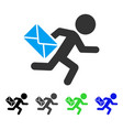 child mail courier flat icon vector image vector image