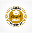 Class 2020 congrats graduates wreath logo