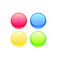 colorful web button set vector image vector image