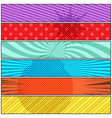 comic explosive colorful horizontal banners vector image