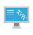 computer molecule laboratory science vector image vector image