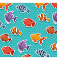 cute ornamental fish pattern background vector image vector image