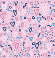 cute pastel love doodles valentines day pattern vector image