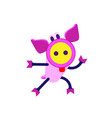 cute piggy cartoon flee chinese zodiac sign vector image vector image