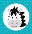 cute zebra head tender character vector image vector image