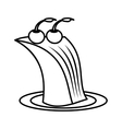 delicious cake isolated icon vector image vector image