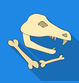 dinosaur fossils icon in flate style isolated on vector image vector image