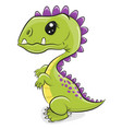 dinosaur isolated on a white background vector image vector image