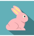 Easter bunny icon flat style vector image vector image