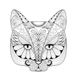 entangle cat print for adult coloring page vector image