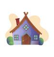 fantasy house cartoon fairy treehouse vector image vector image