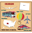 Flat map of Colorado vector image vector image