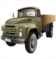 flatbed truck vector image vector image