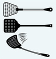 Fly swatter vector image