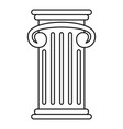 greek pillar icon outline style vector image vector image