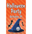 happy halloween party greeting card happy vector image vector image
