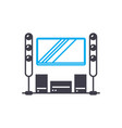 home theater linear icon concept home theater vector image vector image