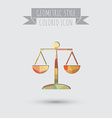 icon of the scales of justice symbol of justice vector image vector image